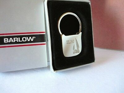 "Vintage Boxed BARLOW Silvertone ""ILM"" Key Ring on Rummage"