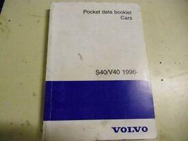 Volvo V40 data book.
