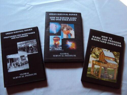 24   Lot Set URBAN SURVIVAL COLLECTION DVDs PREPAREDNESS RATIONING GRID CRISIS