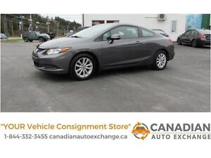 2012 Honda Civic Cpe EX GREAT BUY! Never go wrong with a Civic!