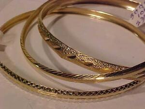 # 3099/3100/3102--THINK CHRISTMAS 10K YELLOW GOLD SOLID BANGLES STARTING AT JUST $195.00