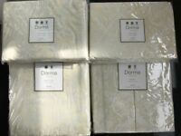New - Superking size Dorma Palazzo Cream bed set (260 x 220cm) with curtains and tie-backs. £270 ONO
