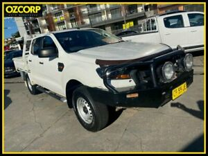 2015 Ford Ranger PX MkII XL 3.2 (4x4) White 6 Speed Automatic Crew Cab Utility Homebush Strathfield Area Preview