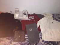 Lv/Nike trainers size 11/Nike clothes and stone island sizes large/XL