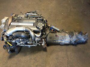 JDM NISSAN SKYLINE GTR RB26DETT R33 TWIN TURBO ENGINE MT TRANNY