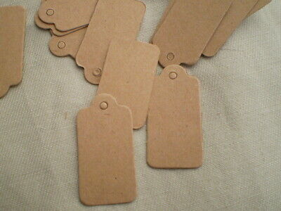 100 Pack Kraft Paper Hang Price Tags Clothing Jewelry Holidays 1 Long X12 Wide