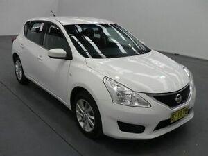 2015 Nissan Pulsar C12 ST White Continuous Variable Hatchback Fyshwick South Canberra Preview