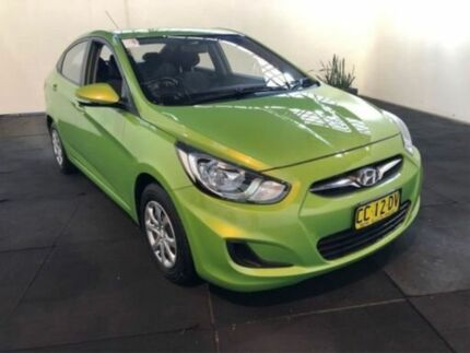 2014 Hyundai Accent RB2 Active Green 4 Speed Automatic Sedan