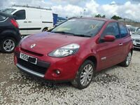 Renault Clio dynamique MK3 PH2 1.2 2010 Petrol Red BREAKING