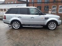 range rover sport 2008 3.6 diesel 130k fsh mot till may first to see will buy £9500 or may px