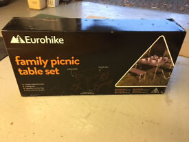 Eurohike family picnic table set - used once