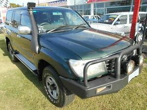 2001 Toyota Landcruiser HDJ100R GXL Green 4 Speed Automatic Wagon Kippa-ring Redcliffe Area Preview