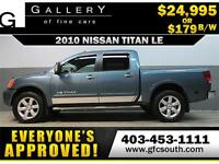 2010 NISSAN TITAN LE CREW *EVERYONE APPROVED* $0 DOWN $179 B/W!