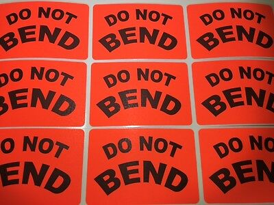 Do Not Bend Labels 2 X 3 Red Fluorescent Color 100 New Shipping Stickers New
