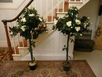 Artificial standard rose trees - great for wedding / parties / conservatory