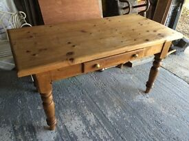 Rustic Reclaimed Pine Kitchen Table