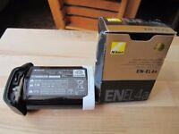 Nikon EN-EL4a with battery holder BL-4