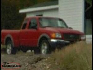 2003  red ford ranger 4x4 v6