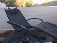 SET OF 2 VERY COMFORTABLE & STYLISH ROCKING SUN LOUNGERS