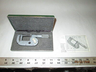 Machinist Tool Lathe Mill Federal Indicating Micrometer With Carbide Tips 200p 1