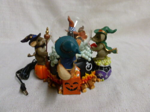 Charming Tails A Spooky Brew 85/110 Lighted Figurine Fall Halloween Witch