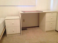 Desk - White with 4 Drawers