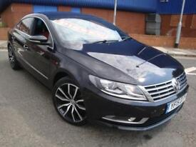 15 VW PASSAT CC 2.0TDI ( 140ps ) BMT GT/RED LEATHER/ SNAV/ £30 ROD TAX