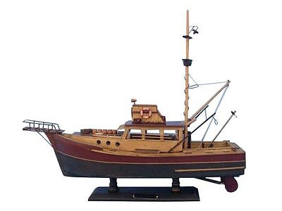 "Jaws - Orca 20"" - Famous Ship From The Movies - Wood Model Boat - Nautical Decor"