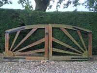 large wooden gates good condition