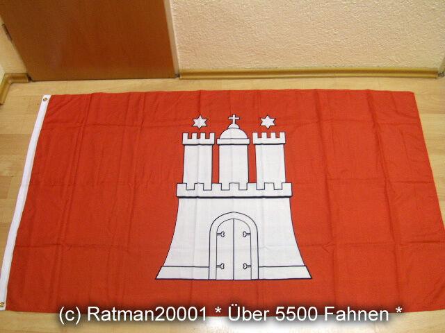 Fahnen Flagge Hamburg Neu - 90 x 150 cm
