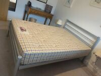 Double bed with metal frame - good condition