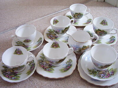 Royal Vale England porcelain tea cup and saucer,set of 16 pieces, used for sale  Shipping to Ireland