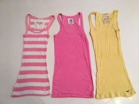 Abercrombie and Fitch XS Pink XS Hollister XS- T SHIRTS authentic - good value