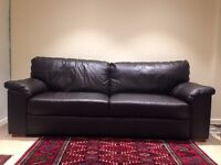 2 leather sofas (2 and 3 seater)
