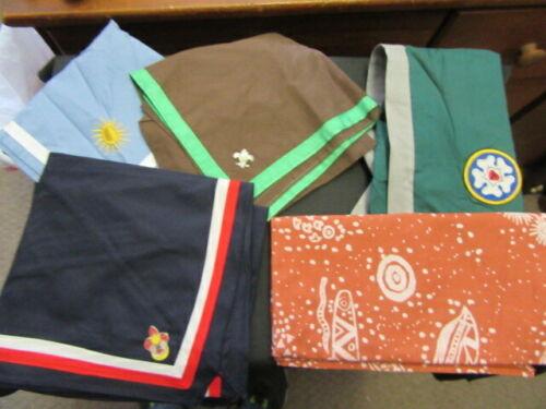 Boy Scout International Scarf Neckerchief & Pin Lot      fx2