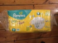 Pampers Size 2 Nappies (54 Per Pack, New & Sealed)