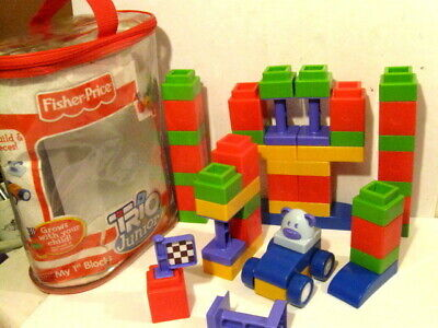Trio Junior Fisher Price My First Blocks Building Set Used.
