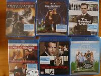 15 Blu rays-brand new sealed 3 pounds each or 32.00 pounds for the lot