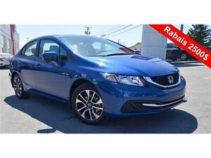 2015 Honda Civic Sedan EX, 2500$ Rebate !!!