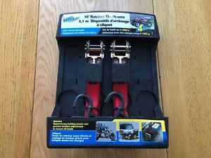 Carry Power 10' Ratchet Tie Downs - Two pack never used