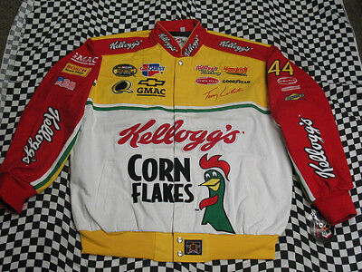 Kelloggs Jacket (Terry Labonte Throwback Kellogg's Adult Jacket by JH Design! Size X-Large)