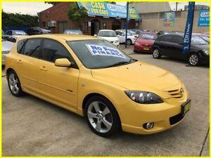 2004 Mazda 3 BK1031 SP23 Yellow 5 Speed Manual Hatchback Kogarah Rockdale Area Preview