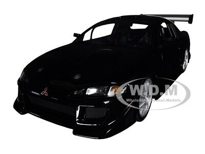 1995 MITSUBISHI ECLIPSE BLACK 1/18 DIECAST MODEL CAR BY GREENLIGHT 19040