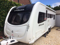 Sterling Eccles Amethyst 2011 - twin axle, fixed bed, six berth, microwave