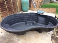 Secondhand Pre-formed Pond made by Blagdon 2m x 1.5m in good condition.