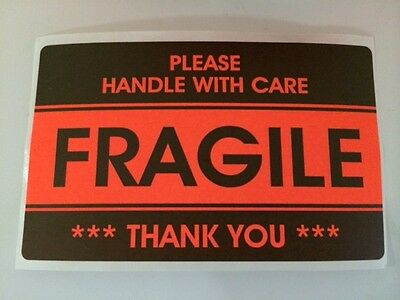 100 3.2x5.2 Fragile Stickers Handle With Carethank You Stickers Fragile Ship New