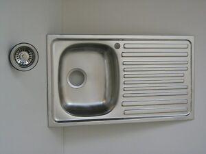 Lavello per cucina inox incasso 1 vascchetta completo di - Sifone lavello cucina ...