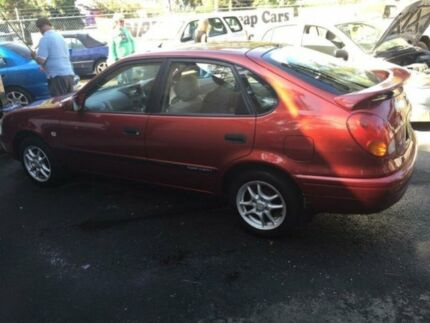 2000 Toyota Corolla AE112R Ascent Red 5 Speed Manual Sedan Woodbine Campbelltown Area Preview