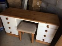 Solid Pine Dressing Table and Chest of Drawers