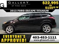 2013 FORD ESCAPE TITANIUM *EVERYONE APPROVED* $0 DOWN $159/BW!